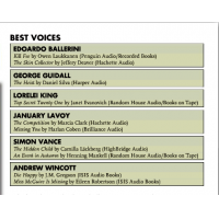 Audiofile Magazine's Best Voices in Mystery & Suspense 2014