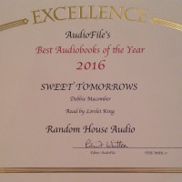 Sweet Tomorrows is one of Audiofile Magazine's Best Audiobooks of 2016